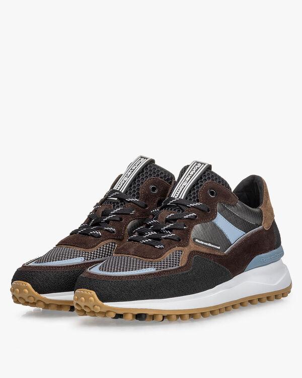 Noppi Sneaker beige/schwarz