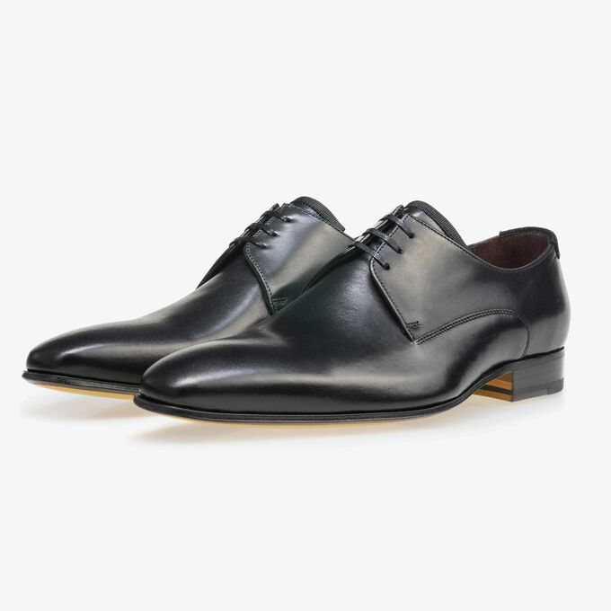 Floris van Bommel black leather men's lace-up shoe