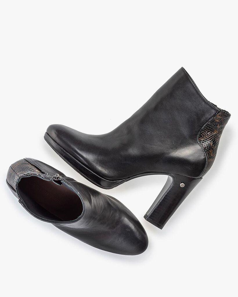 Stiefelette schwarz Nappaleder