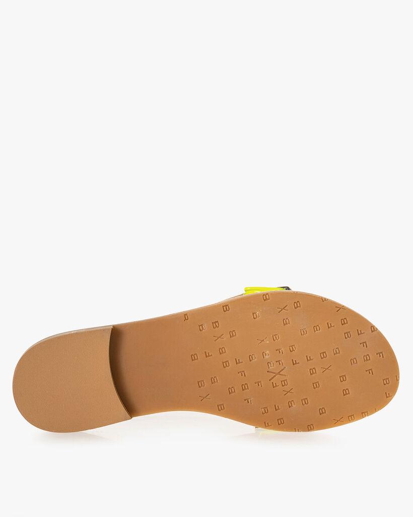 Slipper suede leather beige