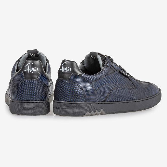 Sneaker dunkelblau metallic