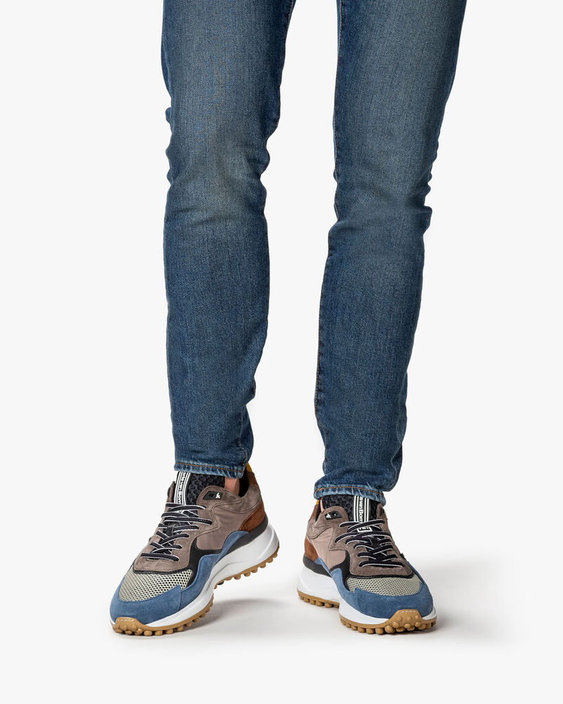 Noppi sneaker suede blue