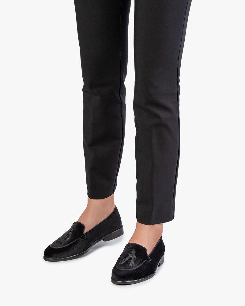 Loafer schwarz Textil
