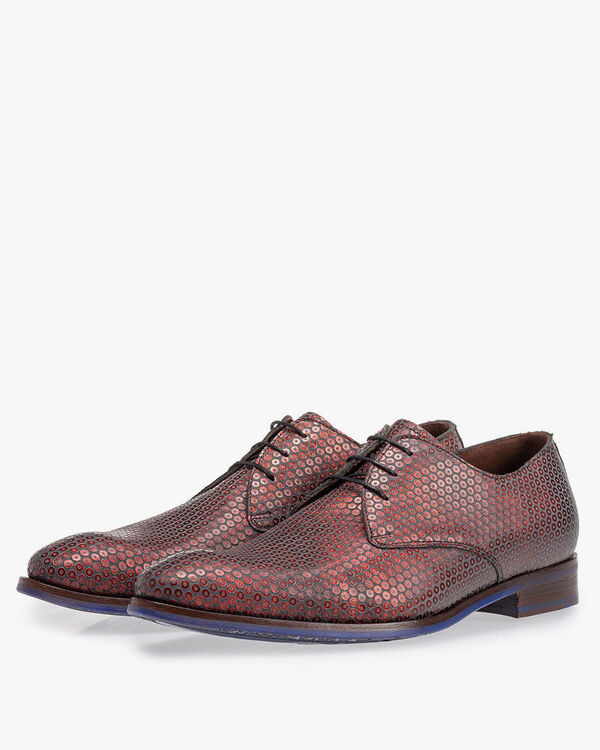 Lace shoe red with print