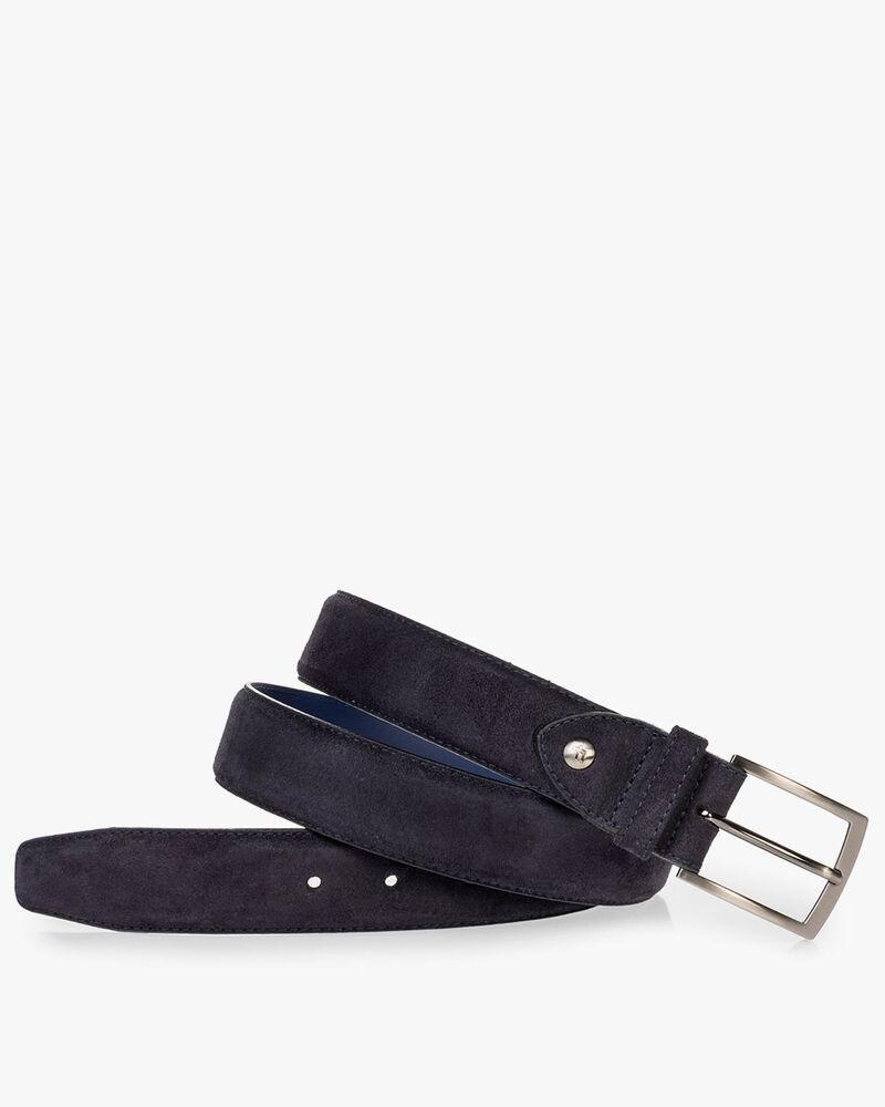 Belt suede dark blue
