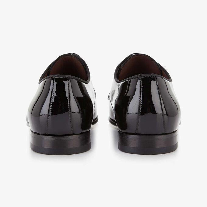 Schwarzer Lackleder Schnürschuh