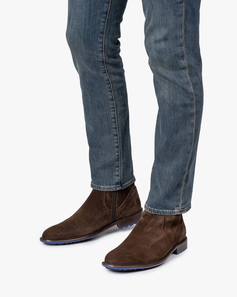 Lambskin lined boot brown