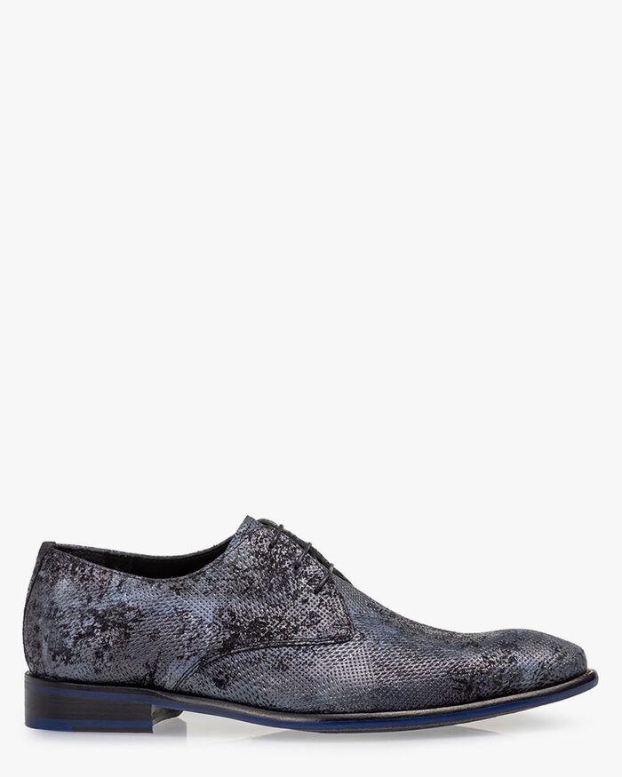 Lace shoe suede blue