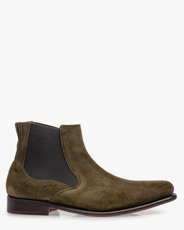 Chelsea Boot Wildleder dunkelgrün