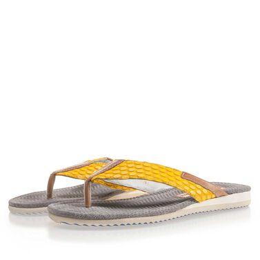 Floris van Bommel leather men's flip flops