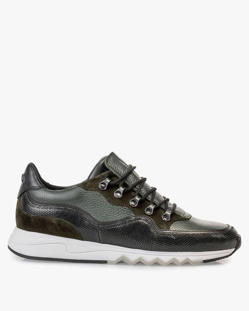 Leder-Sneaker grün
