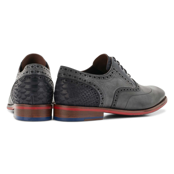 Lace shoe calf leather grey