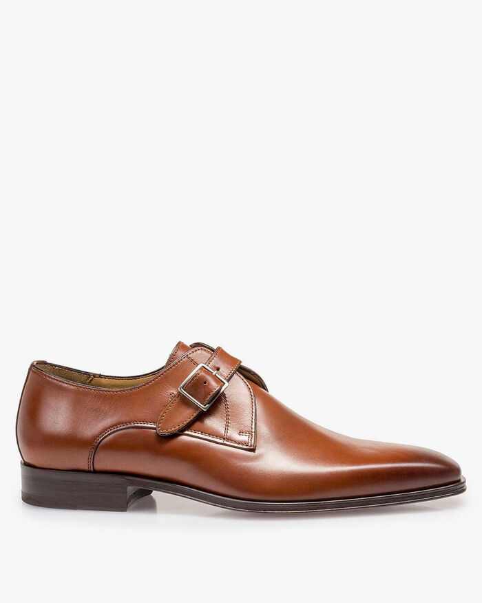 Monk strap calf leather cognac