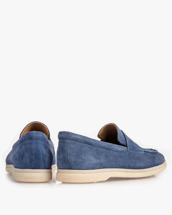 Blauer Wildleder-Loafer
