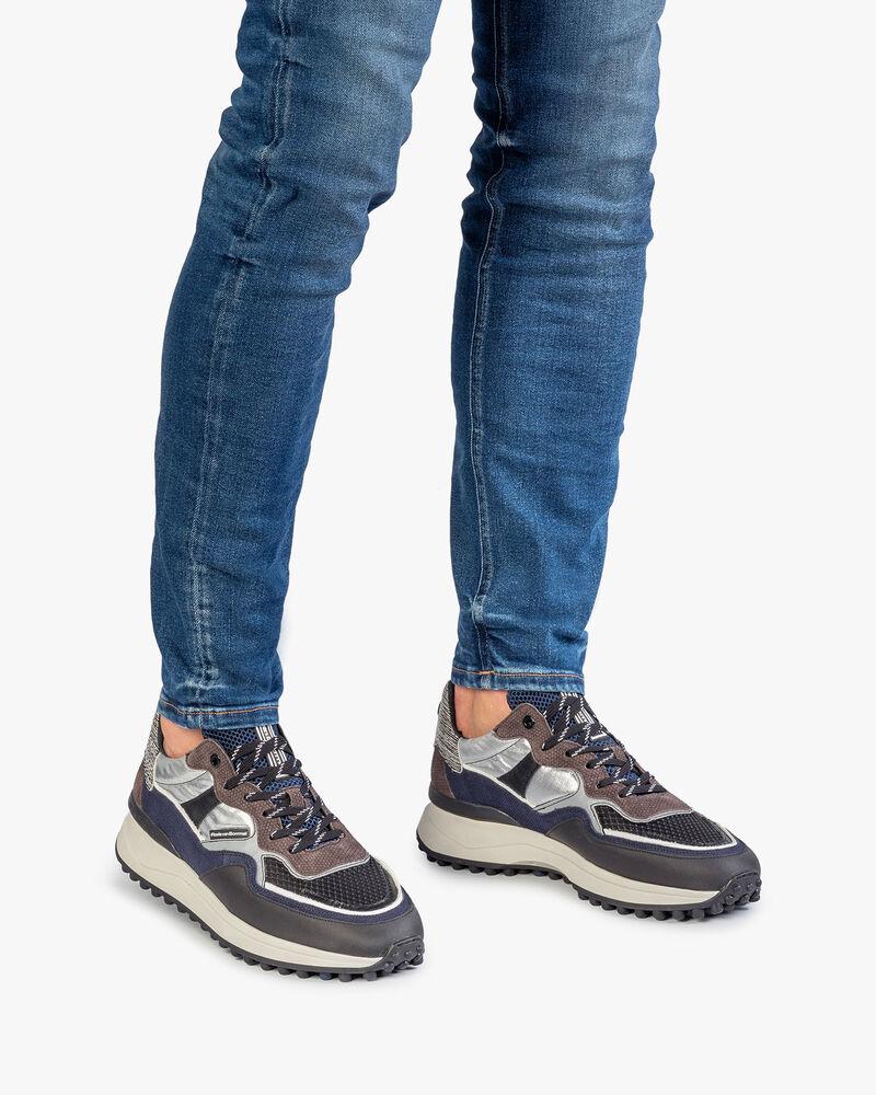 Noppi Sneaker dunkelgrau-blau