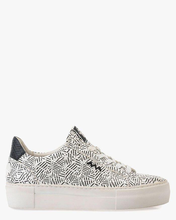 Sneaker zig-zag print black/white