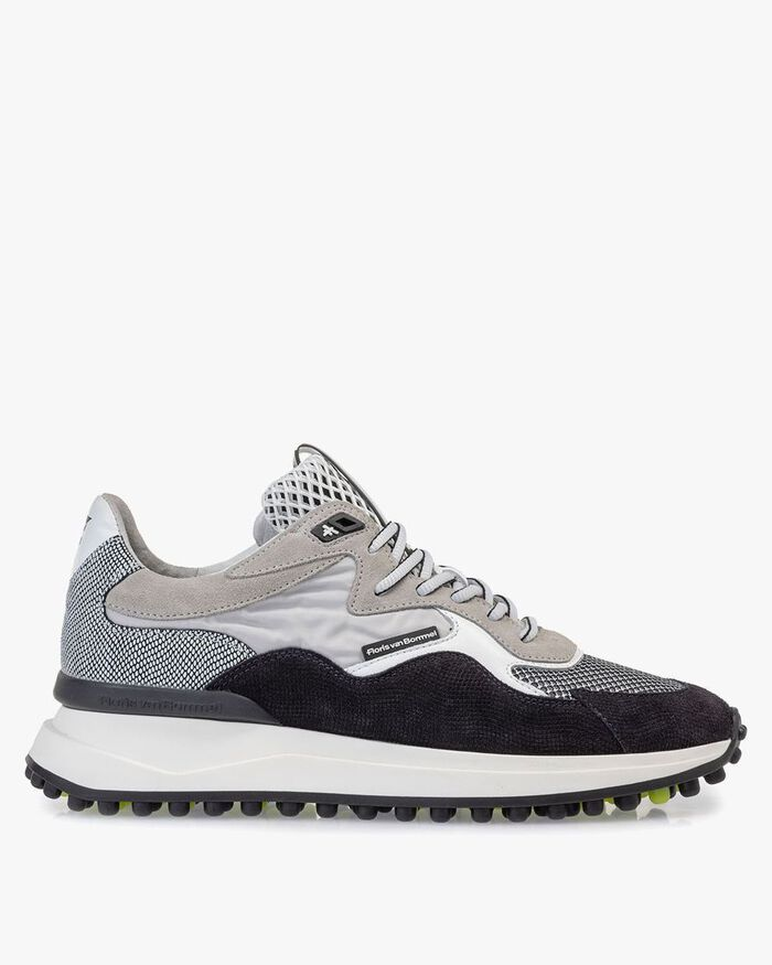 Noppi sneaker suede leather light grey