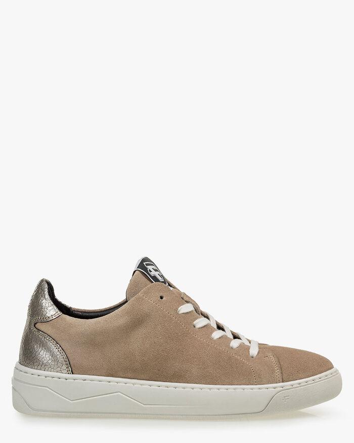 Sneaker suede beige