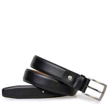 Gürtel Leder mit Print schwarz