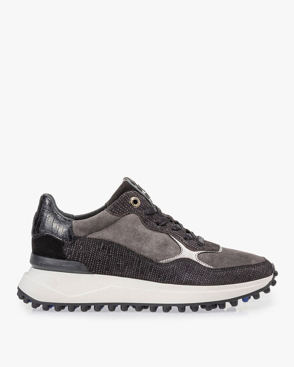 Noppi Sneaker Wildleder schwarz