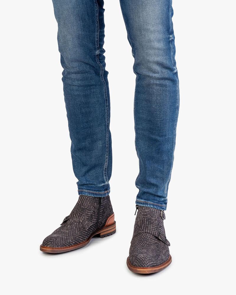 Stiefel grau mit Schnalle