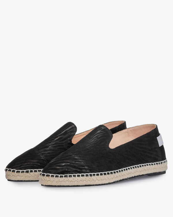 Espadrille printed leather black