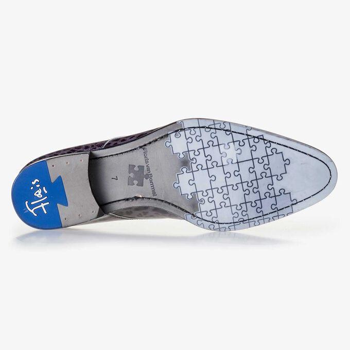 Premium Dunkelgrauer Schnürschuh aus Lackleder