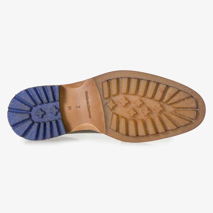Premium green printed metallic leather lace shoe