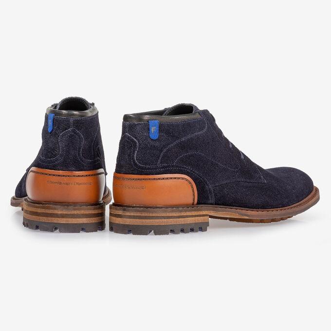 Crepi Stiefel blau Wildleder