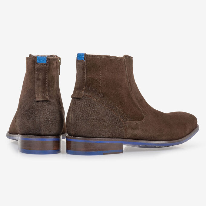 Chelsea boot brown suede leather