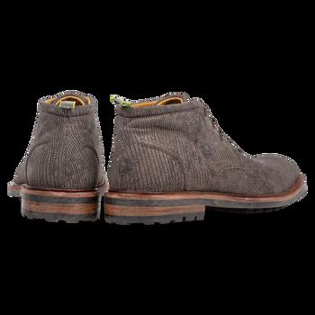 Lace boot reptile print dark grey