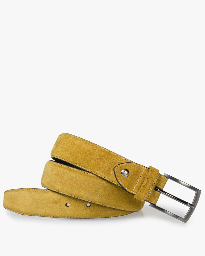 Belt suede leather yellow