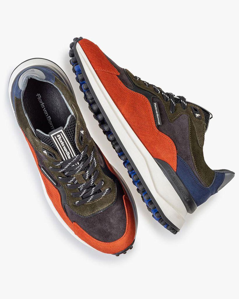 Noppi Sneaker dunkelblau-orange