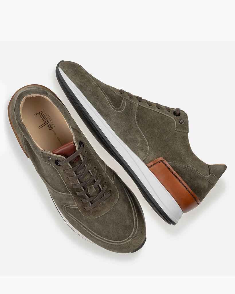 Sneaker grün Wildleder