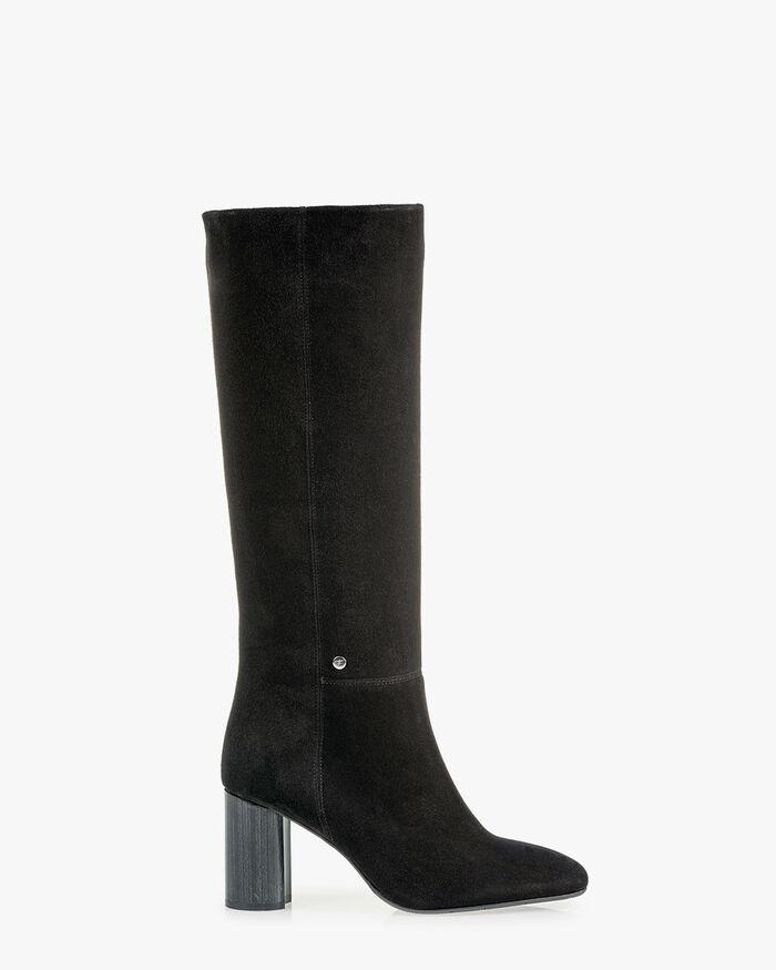 Stiefel Wildleder schwarz