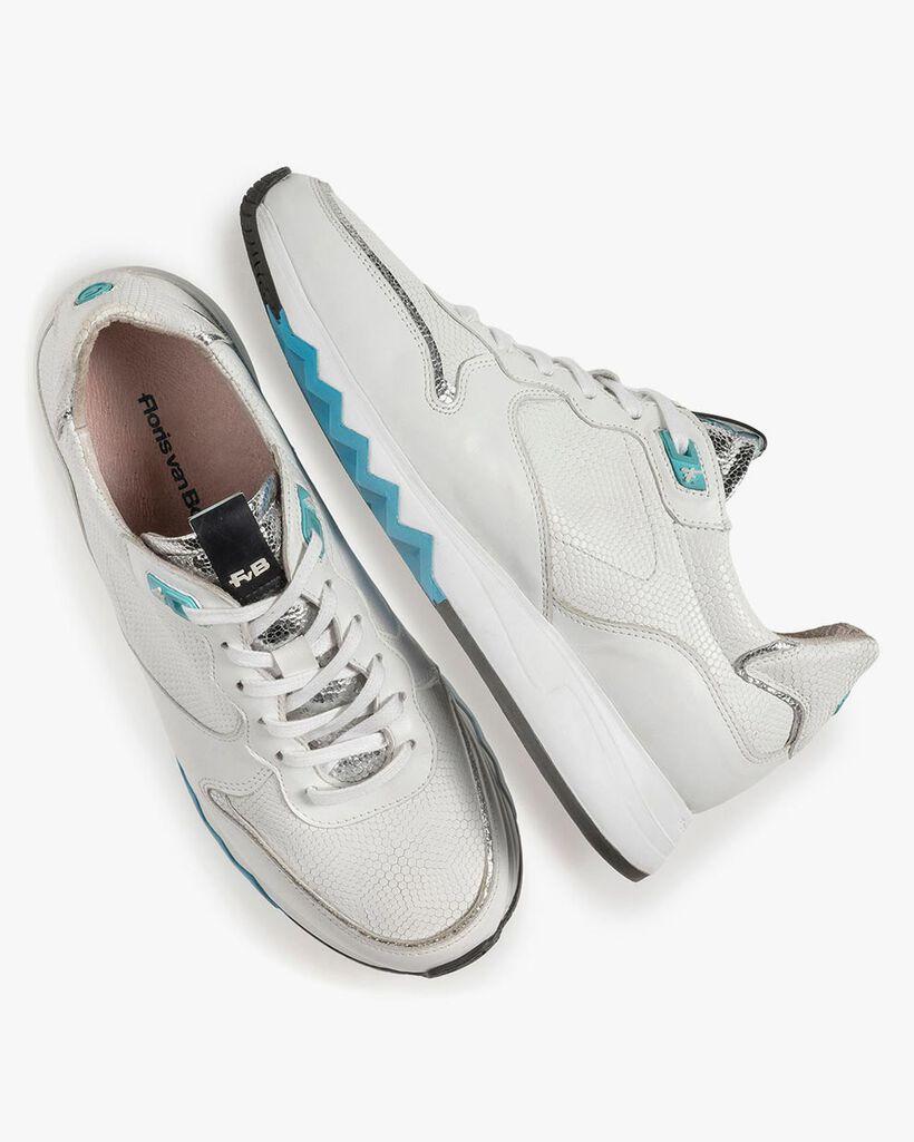 White calf leather sneaker