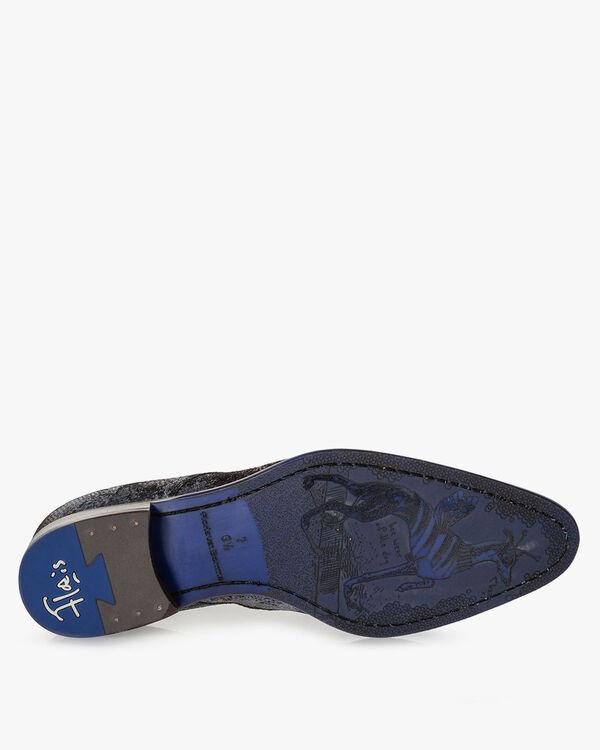 Lace shoe suede dark red