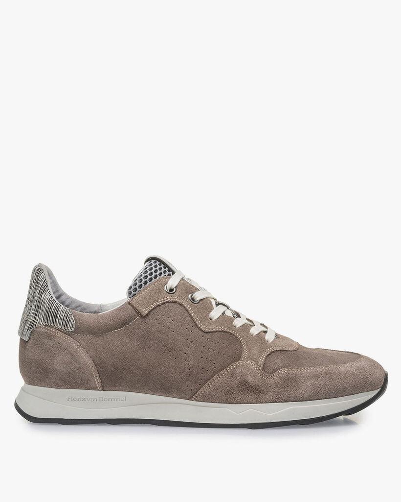 Taupefarbener Wildleder-Sneaker