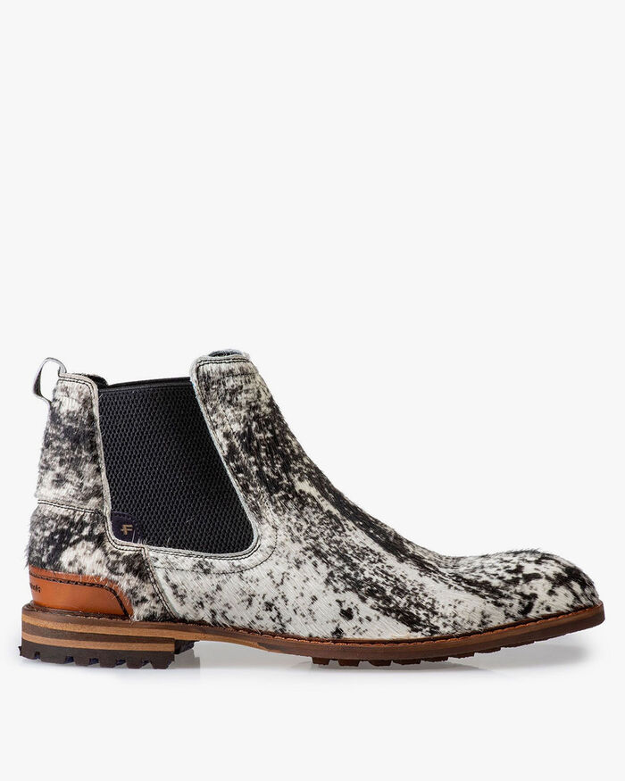 Chelsea boot pony style off-white