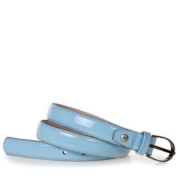 Gürtel Lackleder hellblau