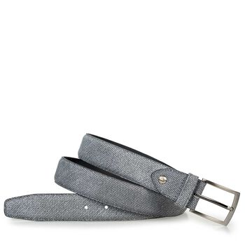 Belt printed suede leather black/white