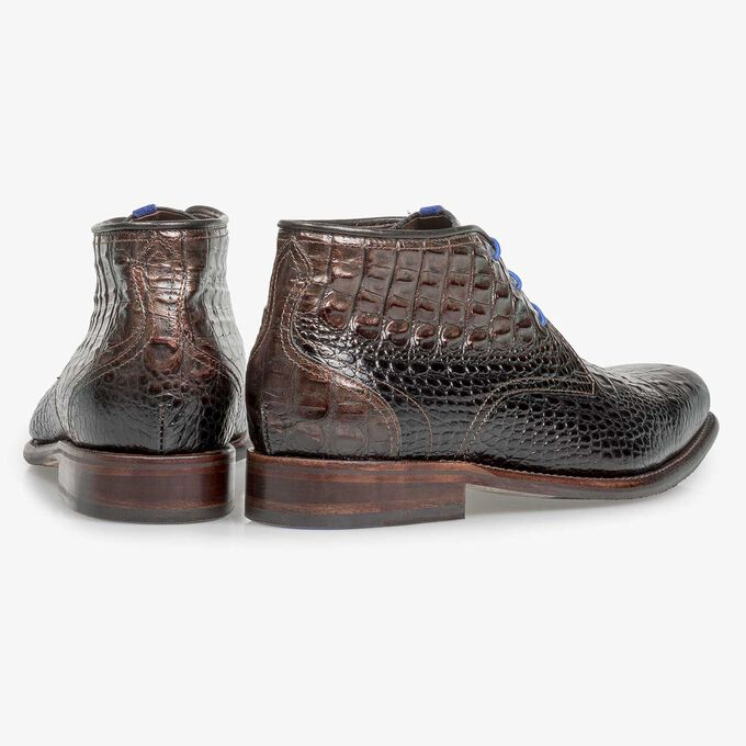 Calf leather lace boot