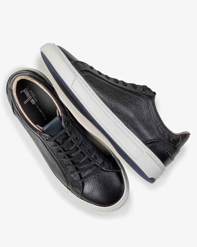 Sneaker mit Print Leder schwarz