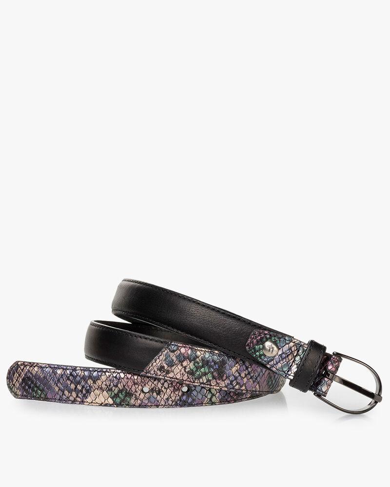 Belt metallic print pink