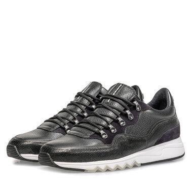 Leder-Sneaker mit 'Hiking-Schnürung'