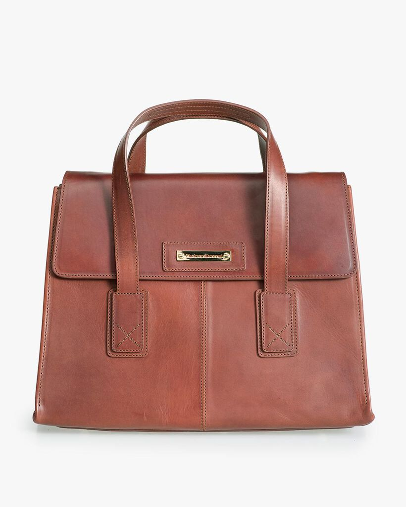 Brown leather business bag