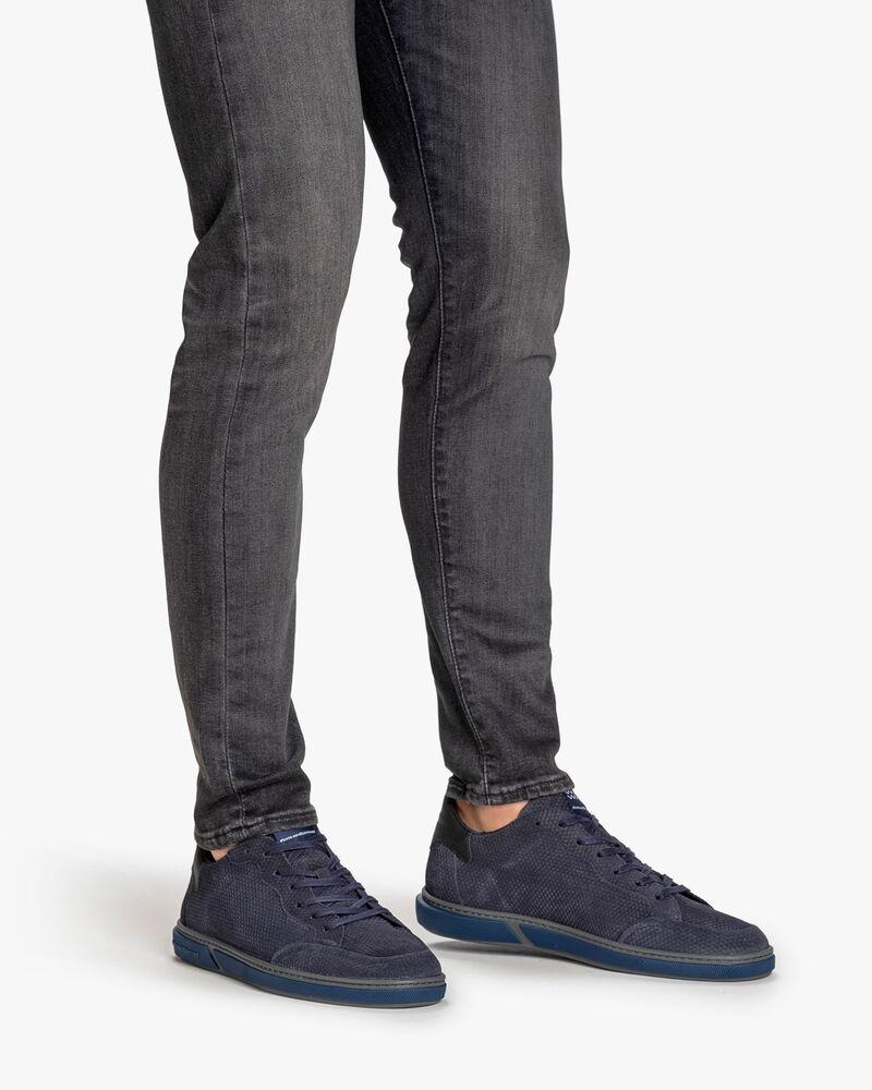 Sneaker Leder dunkelblau