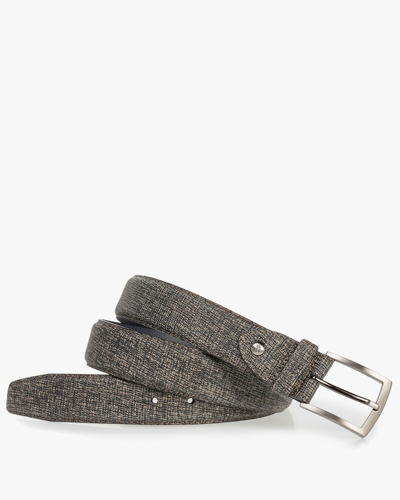 Taupe-coloured leather belt