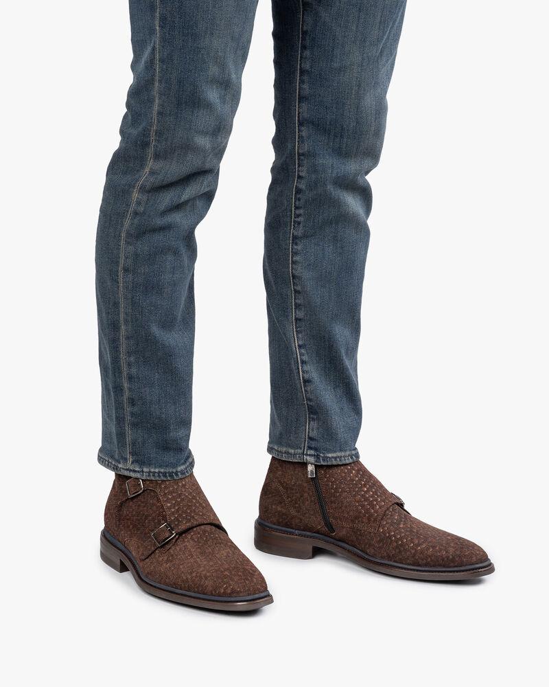 Stiefel mit Schnallenverschluss dunkelbraun