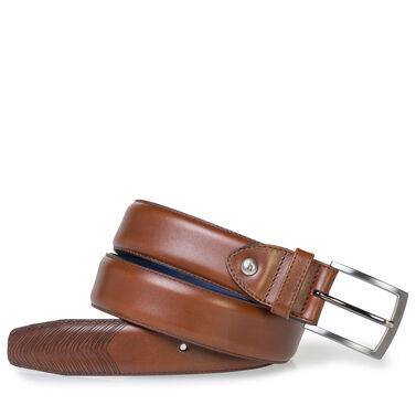 Calf leather belt